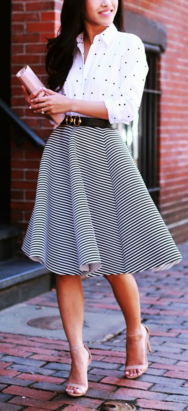 Trending Striped Skirt Outfits For 2016 - (7)