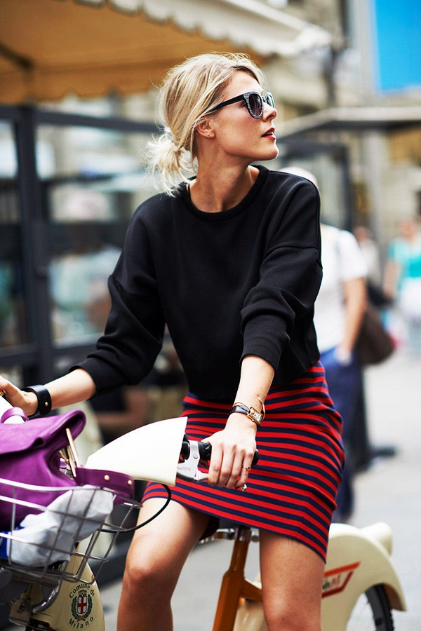 Trending Striped Skirt Outfits For 2016 - (8)