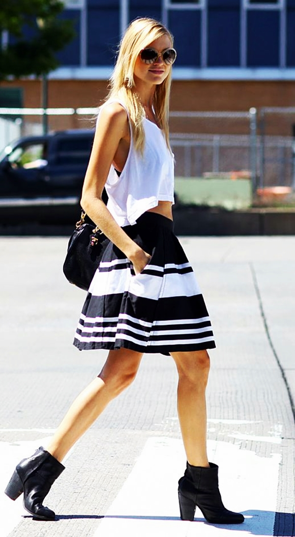 Trending Striped Skirt Outfits For 2016 - (9)