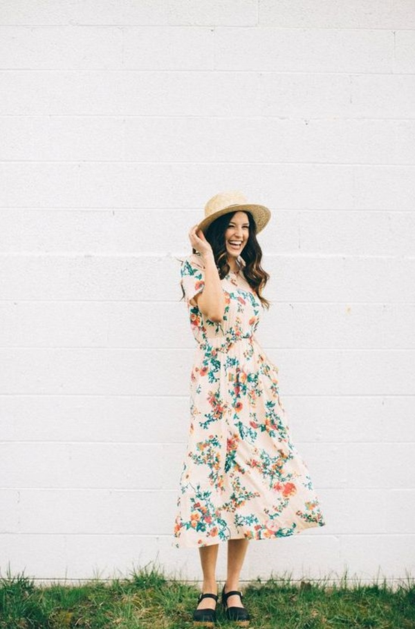 40 Ambitious midi dress Outfits- That Are Actually Cute! (17)