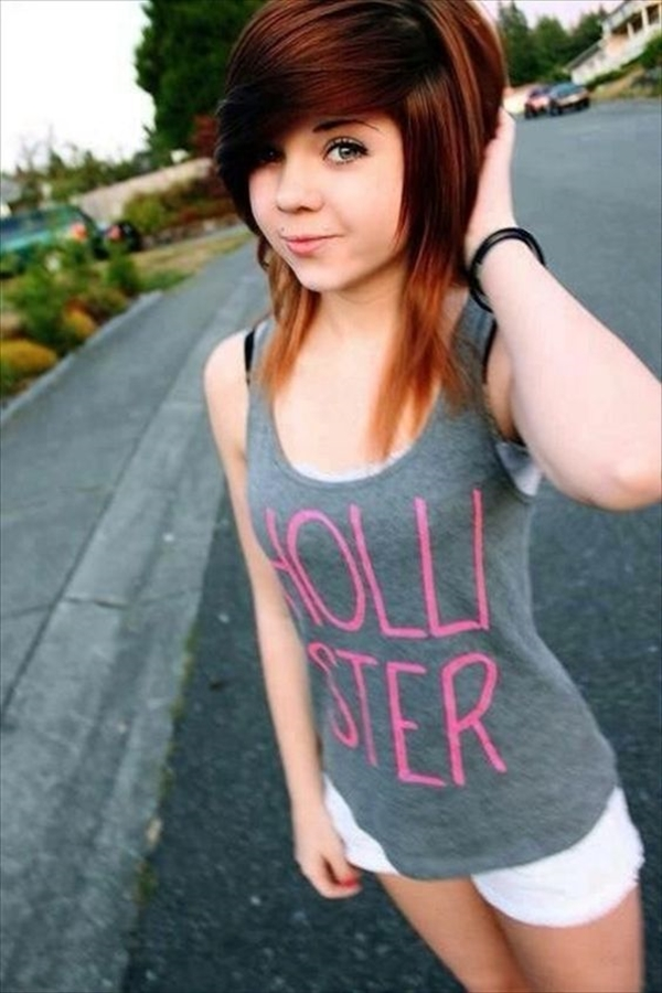 Cute Emo Hairstyles for Teens (37)