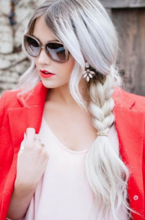 Cute and Girly Hairstyles with Braids - (13)