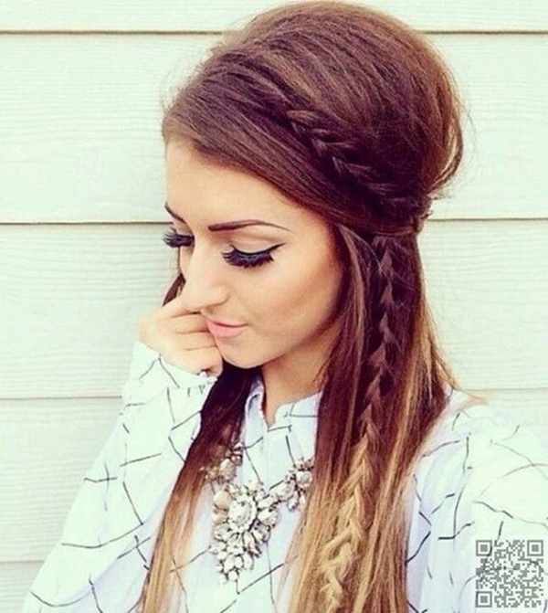 Cute and Girly Hairstyles with Braids - (36)