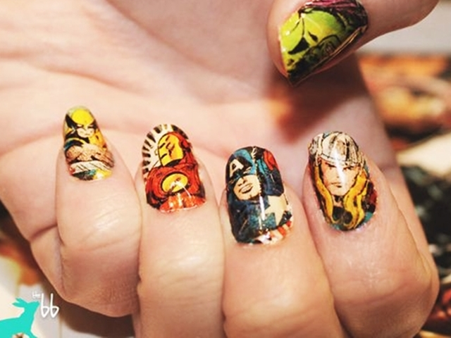 40 Inspiring Superhero Nail Art Ideas