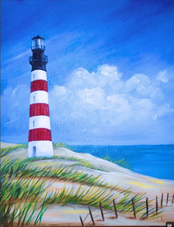 Abstract lighthouse paintings images for Abstract mural ideas