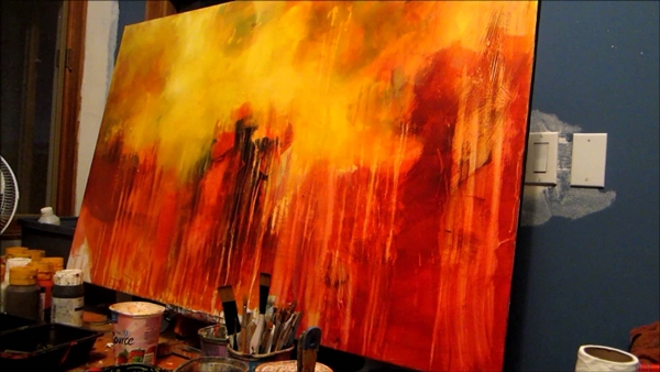 Abstract Painting Ideas for Beginners (39)