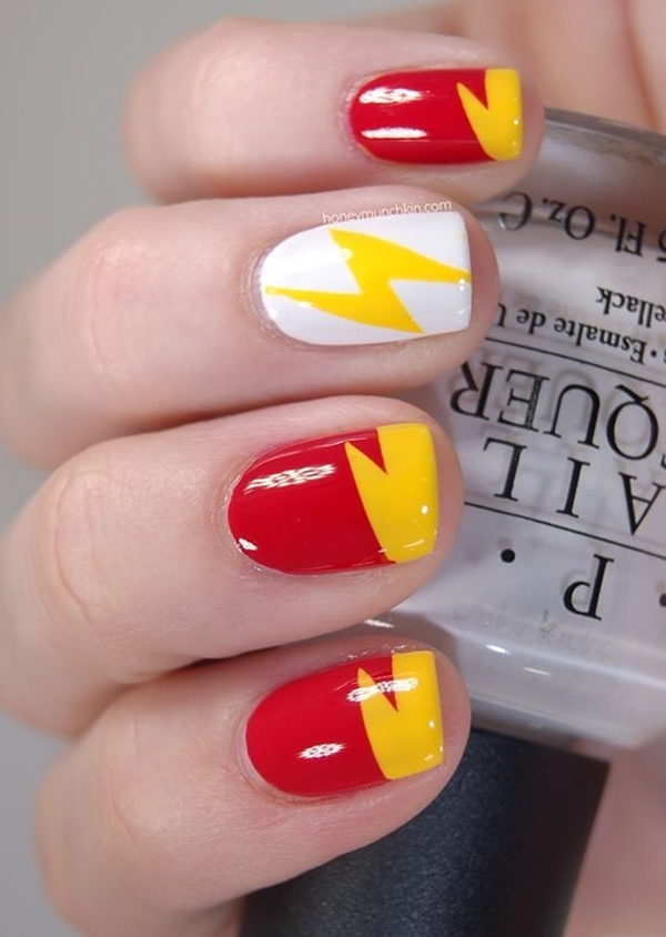 Inspiring Superhero Nail Art Ideas  (14)
