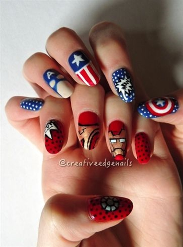 Inspiring Superhero Nail Art Ideas  (15)