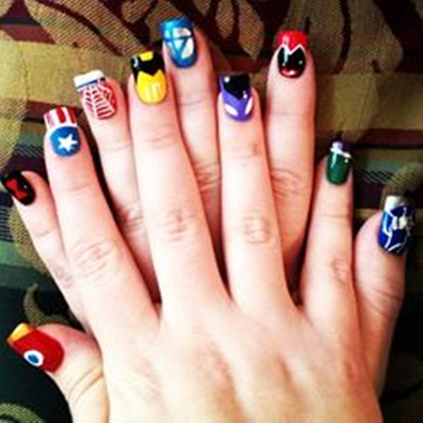 Inspiring Superhero Nail Art Ideas  (16)