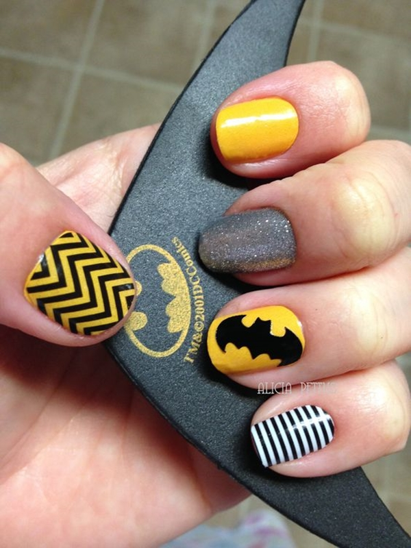 Inspiring Superhero Nail Art Ideas  (18)