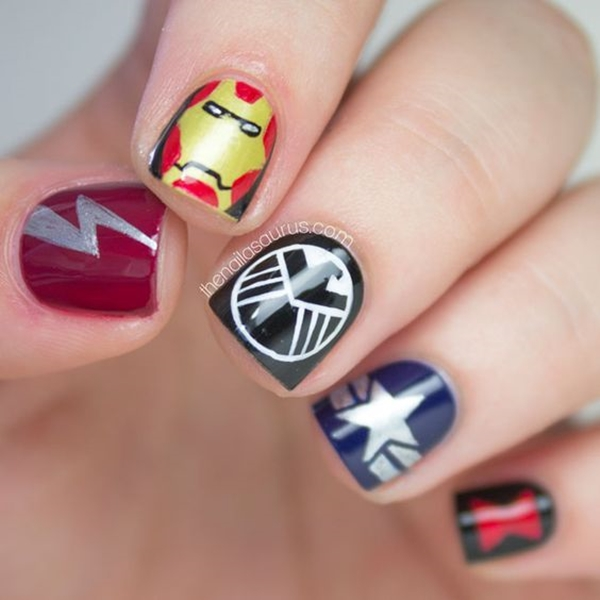 Inspiring Superhero Nail Art Ideas  (19)