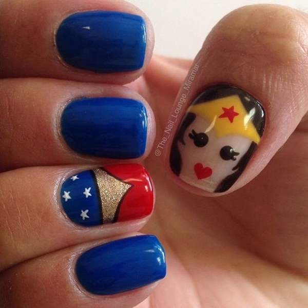 Inspiring Superhero Nail Art Ideas  (2)