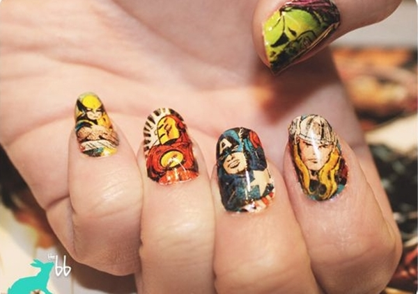 Inspiring Superhero Nail Art Ideas  (20)