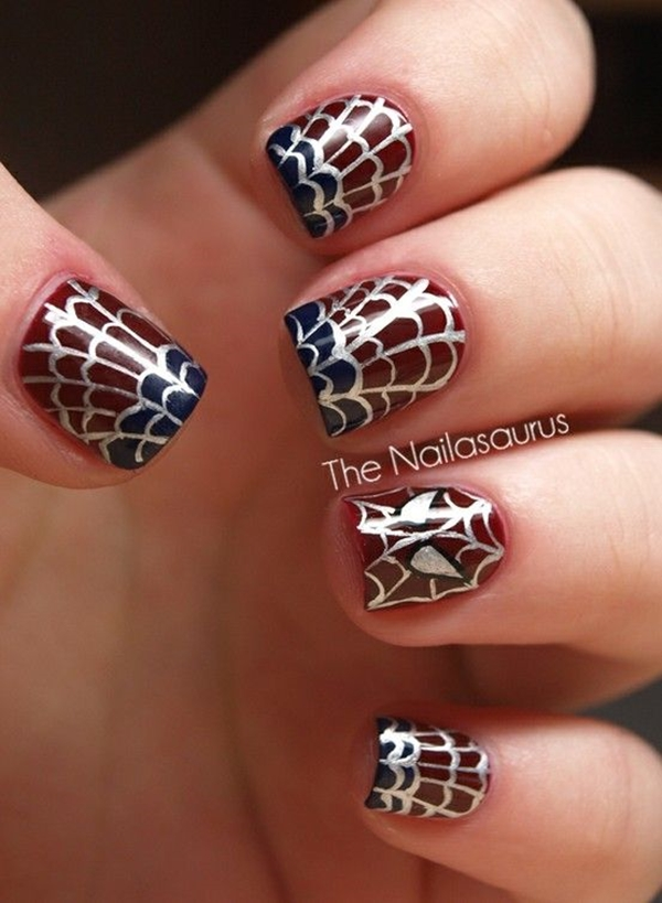Inspiring Superhero Nail Art Ideas  (23)