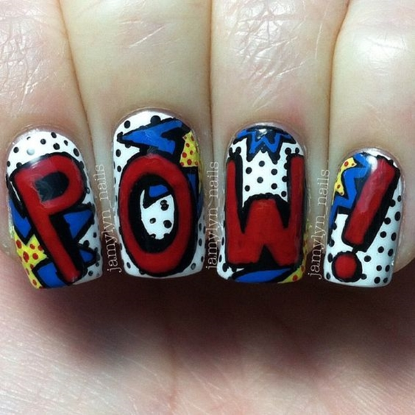Inspiring Superhero Nail Art Ideas  (27)