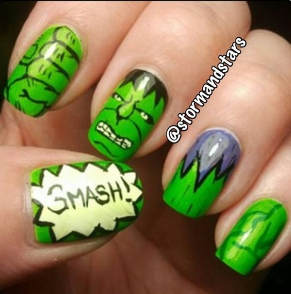 Inspiring Superhero Nail Art Ideas  (3)