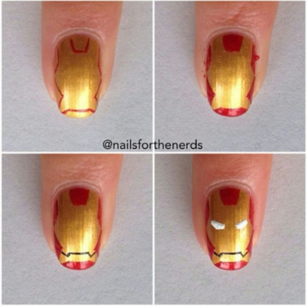 Inspiring Superhero Nail Art Ideas  (30)