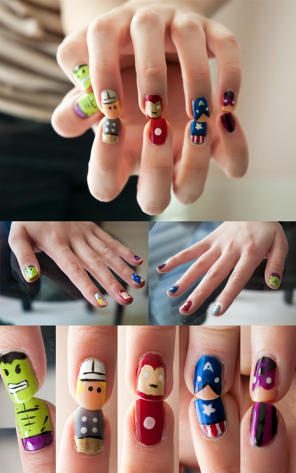 Inspiring Superhero Nail Art Ideas  (36)