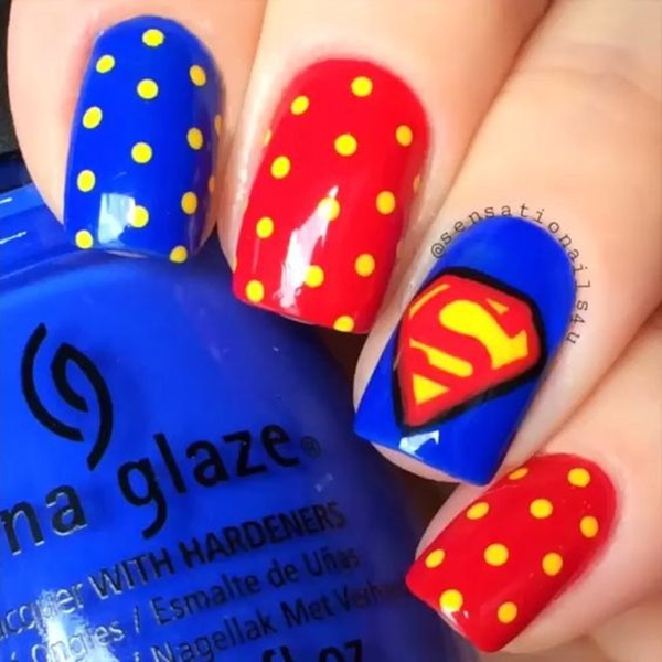 Inspiring Superhero Nail Art Ideas  (37)