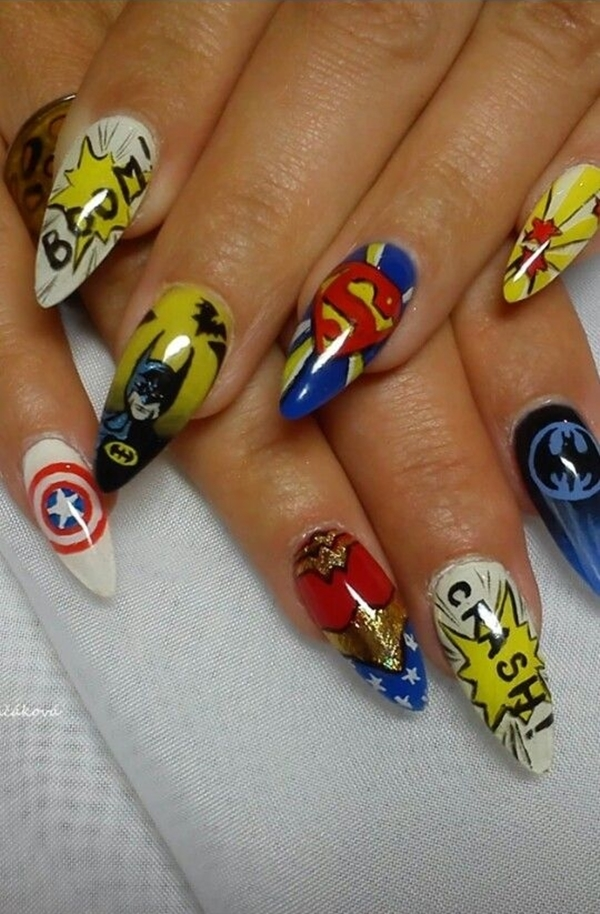 Inspiring Superhero Nail Art Ideas  (38)