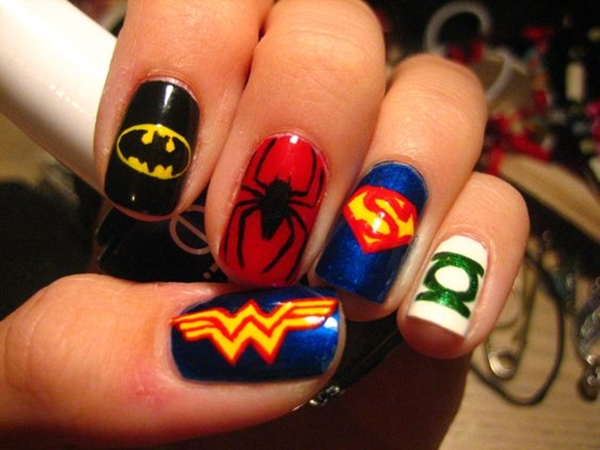 Inspiring Superhero Nail Art Ideas  (4)