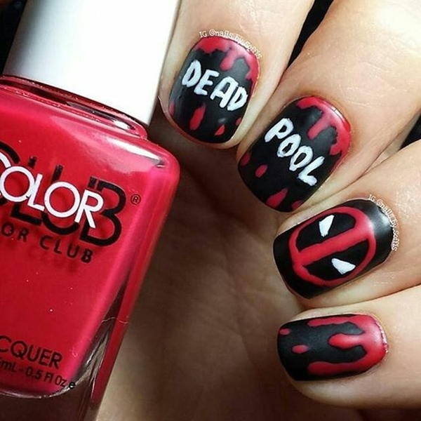 Inspiring Superhero Nail Art Ideas  (7)