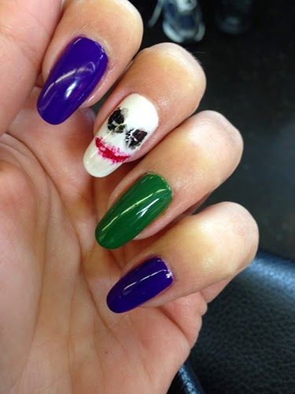 Inspiring Superhero Nail Art Ideas  (9)