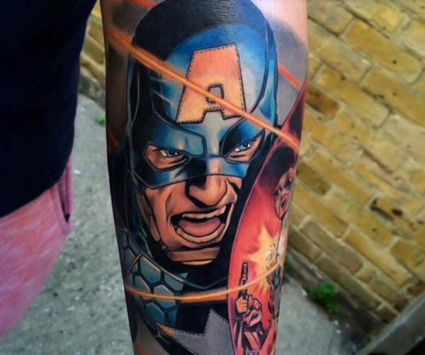 Mightiest Marvel Comic Tattoo Designs (3)