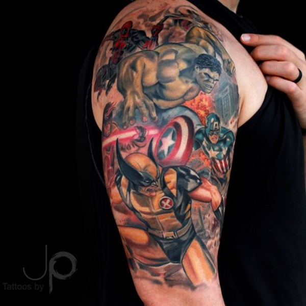 Mightiest Marvel Comic Tattoo Designs (34)