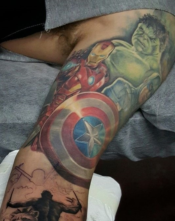 Mightiest Marvel Comic Tattoo Designs (38)