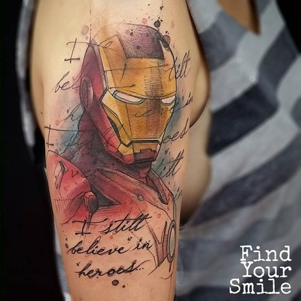 Mightiest Marvel Comic Tattoo Designs (40)