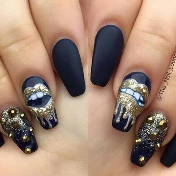 40 pictures of acrylic nail designs for Acrylic nail decoration