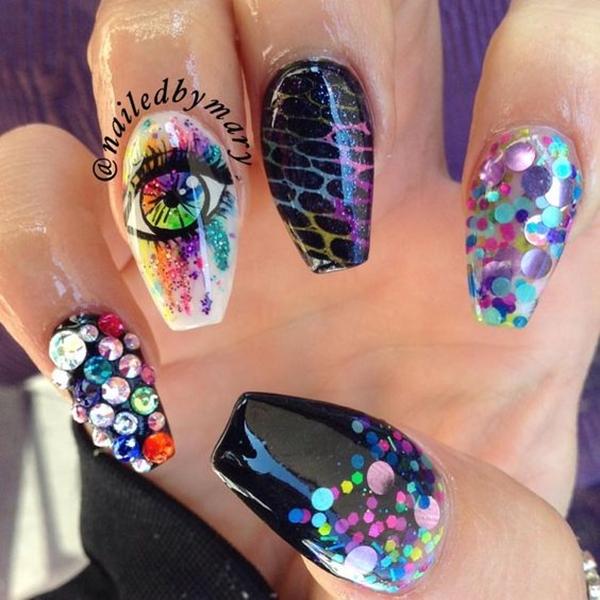 Acrylic Nail Designs (40)