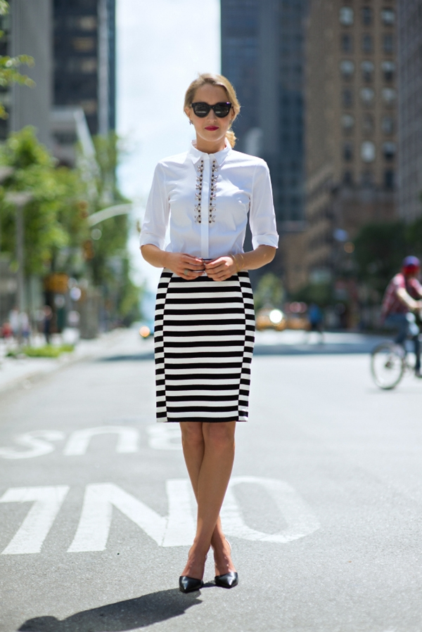 Office-Inspired-Striped-Skirt-Outfits-10-1