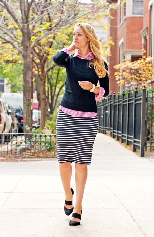 office-inspired-striped-skirt-outfits-4