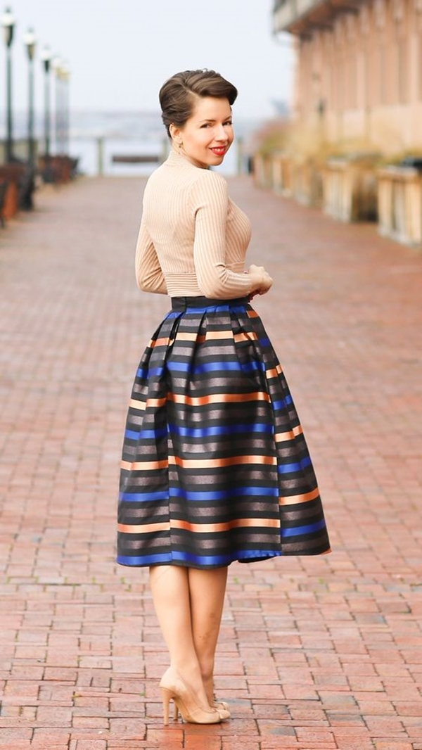 office-inspired-striped-skirt-outfits-5