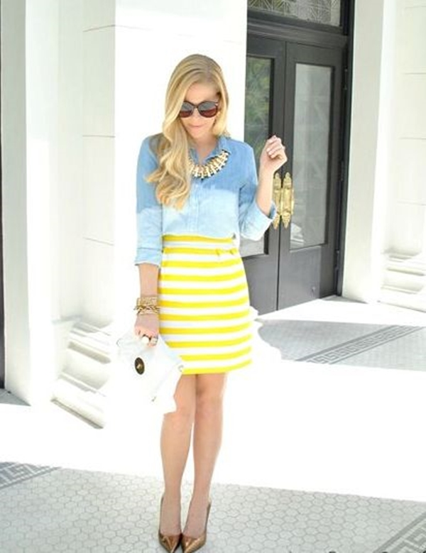office-inspired-striped-skirt-outfits-6