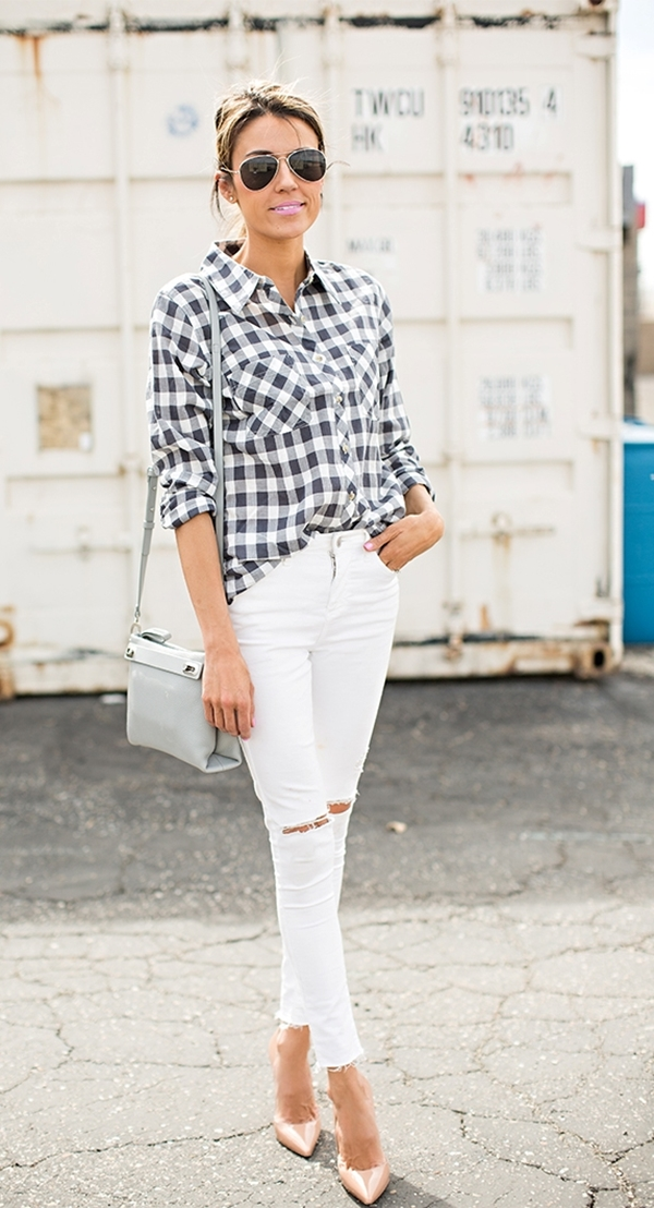 40-gingham-shirt-outfit-for-every-season-37