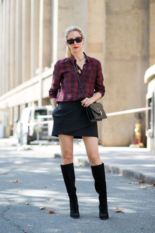 40-gingham-shirt-outfit-for-every-season-8