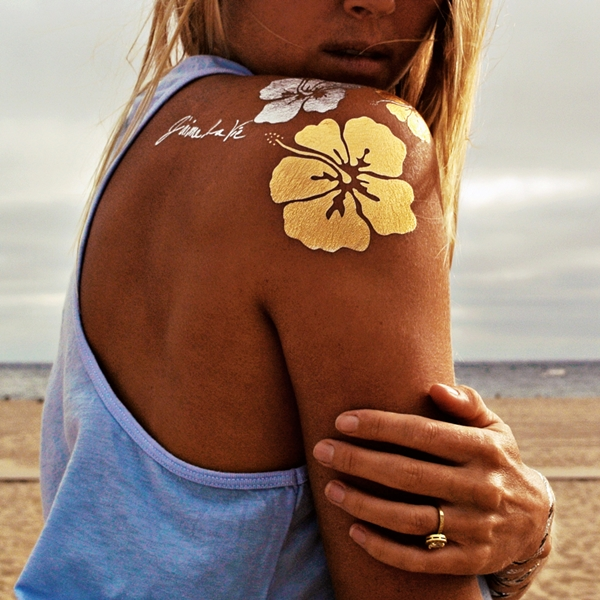 40 temporary metallic tattoos that are in trend for Metallic tattoo ink