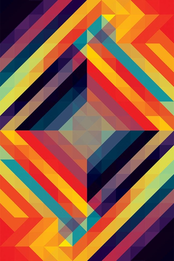 Geometric iPhone wallpapers - (12)