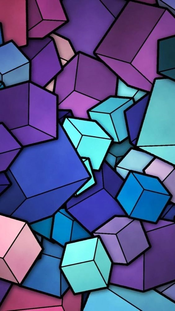 Geometric iPhone wallpapers - (32)
