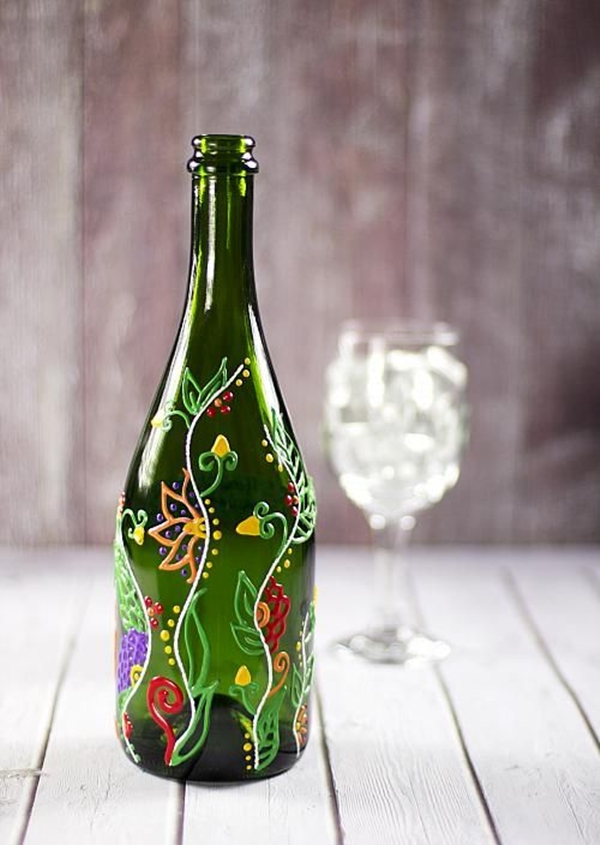 Wine Bottle Art Ideas - (1)
