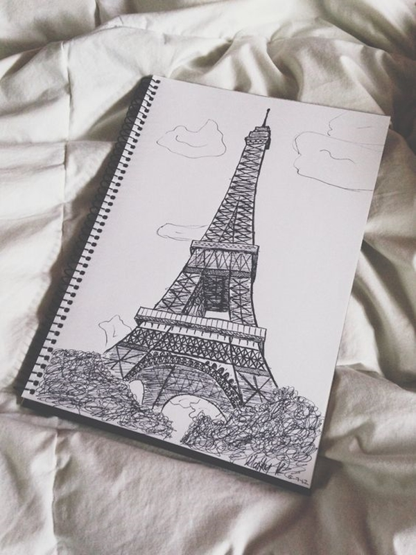 beautiful-and-detailed-Eiffel-Tower-drawings-13