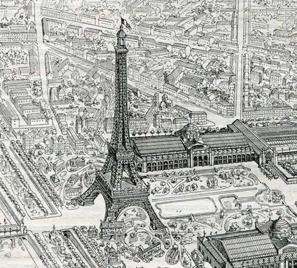 beautiful and detailed Eiffel Tower drawings - (15)