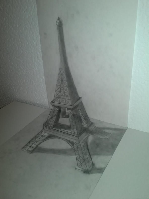 beautiful and detailed Eiffel Tower drawings - (17)