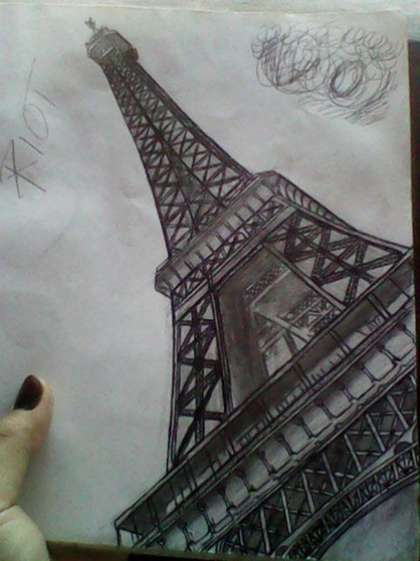 beautiful and detailed Eiffel Tower drawings - (18)