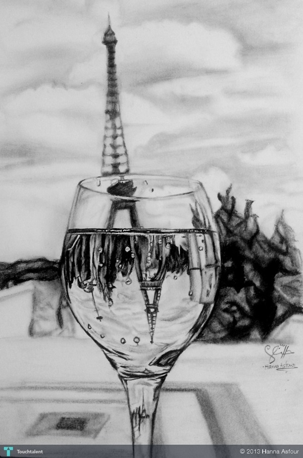 beautiful and detailed Eiffel Tower drawings - (21)