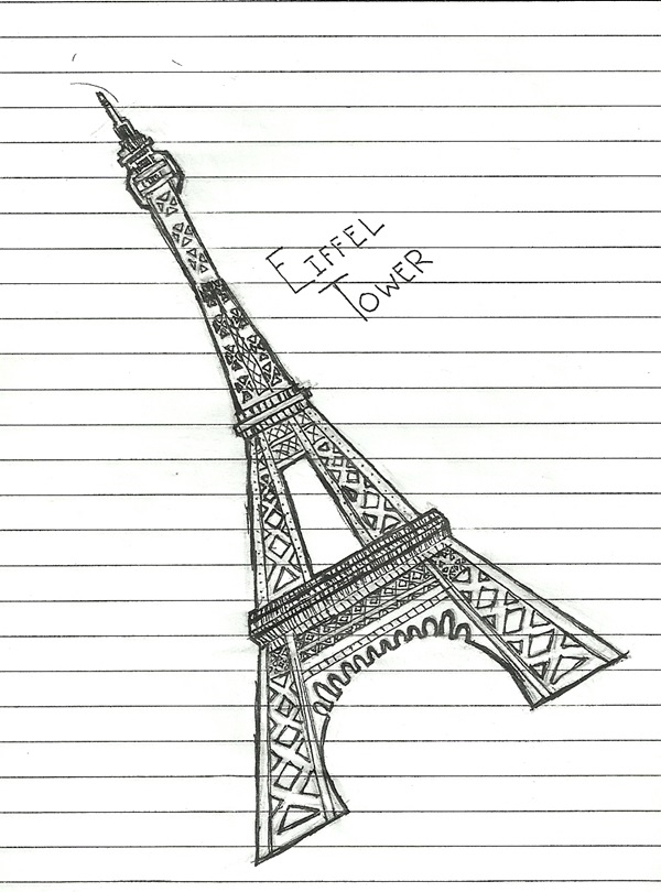 beautiful and detailed Eiffel Tower drawings - (23)