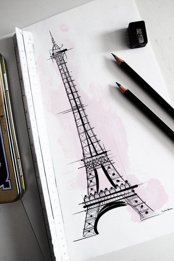 beautiful and detailed Eiffel Tower drawings - (26)